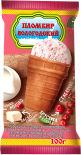 Мороженое Вологодский пломбир Пломбир с кусочками ягод Брусника и Клюква в вафельном стаканчике 100г