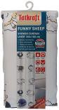 Штора для ванной комнаты Tatkraft Funny Sheep textil 180*180см