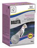 Корм для кошек Bozita Sensitive Hair&Skin кусочки в желе с лососем 190г