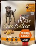 Сухой корм для собак Pro Plan Duo Delice Medium&Large Adult для средних и крупных пород с говядиной 700г