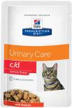 Влажный корм для кошек Hills Prescription Diet c/d Urinary Stress для лечения и профилактики МКБ и цистита с курицей 85г