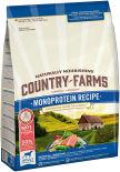 Сухой корм для собак Country Farms Monoprotein Recipe с лососем 2.5кг
