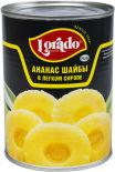 Ананасы Lorado Шайбы в легком сиропе 580мл