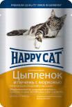 Корм для кошек Happy Cat Цыпленок и Печень с морковью в желе 100г
