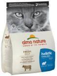 Сухой корм для кошек Almo Nature для стерилизованных с говядиной и рисом 2кг