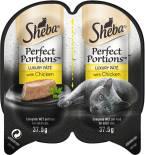 Корм для кошек Sheba Perfect Portion паштет с курицей 2шт*37.5г