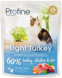Сухой корм для кошек Profine Light Turkey Индейка курица 300г