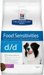 Сухой корм для собак Hills Prescription Diet d/d при пищевой аллергии с уткой 5кг
