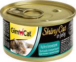 Корм для кошек GimCat ShinyCat из цыпленка с креветками 70г