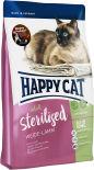 Сухой корм для взрослых кошек Happy Cat Для стерелизованных ягненок 1.4кг