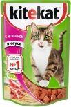 Корм для кошек Kitekat с ягненком в соусе 85г