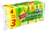 Губка Scotch-Brite Интенсив для посуды Формованная 4шт