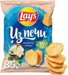 Чипсы Lays Из печи Нежный сыр с зеленью 85г