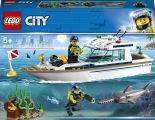 Конструктор LEGO City Great Vehicles 60221 Яхта для дайвинга