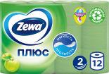 Туалетная бумага Zewa Плюс Яблоко 12 рулонов 2 слоя
