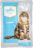 Корм для кошек Lapka с рыбой в соусе 85г