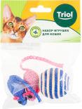 Набор игрушек для кошек Triol XW7007 Мяч и мышки