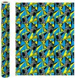Бумага упаковочная Batman голубая с желтым 70*100см 2шт