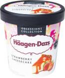 Мороженое Haagen-Dazs Пломбир Клубничный чизкейк 14.4% 400г