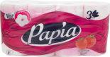 Туалетная бумага Papia Клубничная мечта 8 рулонов 3 слоя