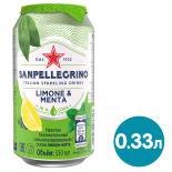 Напиток сокосодержащий Sanpellegrino Лимон-Мята 330мл