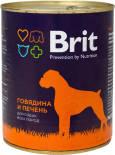 Корм для собак Brit Говядина и печень 850г