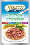 Корм для кошек Stuzzy Cat с ветчиной и телятиной в желе 100г