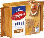 Хлебцы Щедрые Ржаные тонкие 170г