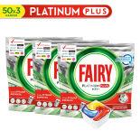 Капсулы для посудомоечных машин Fairy Platinum Plus All in One Лимон 3*50шт