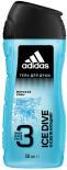 Гель для душа Adidas Ice Dive Body Hair Face 3 250мл