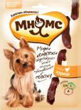 Лакомство для собак Мням Мнямс мини-колбаски с курицей для собак мелких пород 75г