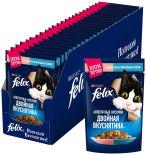 Корм для кошек Felix Двойная вкуснятина с лососем и форелью в желе 85г