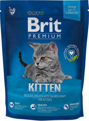 Сухой корм для котят Brit Premium Курица соус 300г