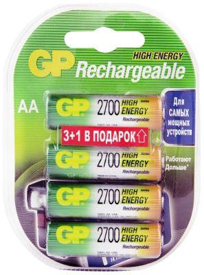 Аккумуляторы GP HR4 2600mAh AA 4шт