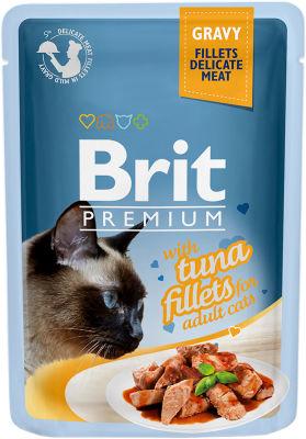 Корм для кошек Brit Premium Тунец соус 85г