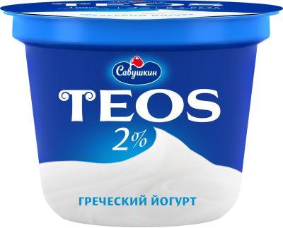 Йогурт Савушкин Греческий Teos 2% 250г