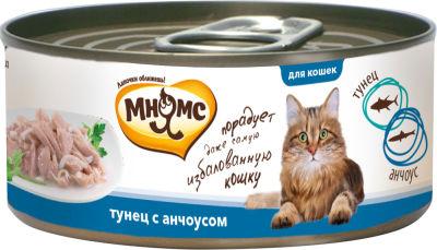 Корм для кошек Мнямс Тунец с анчоусами в нежном желе 70г