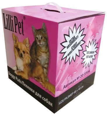 Пеленки Lilli Pet впитывающие для собак 40*48см 100шт