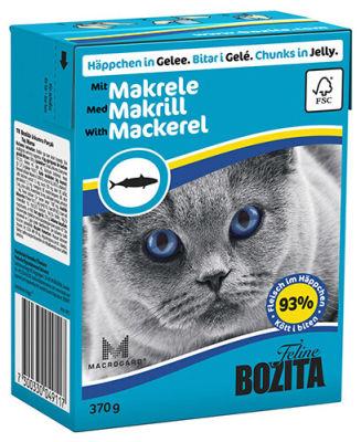 Корм для кошек Bozita Mackerel кусочки в желе со скумбрией 370г