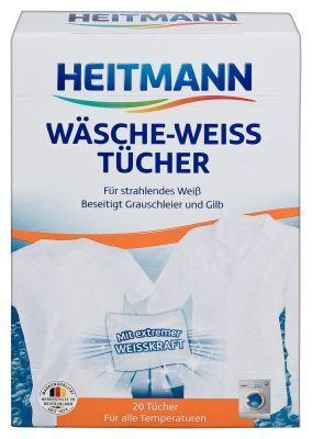 Салфетки для стирки Heitmann отбеливающие 20шт
