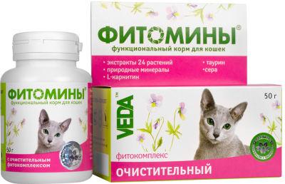 Фитомины для кошек Veda очистительный 50г