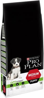 Сухой корм для щенков Pro Plan Optistart Medium Puppy с курицей 12кг