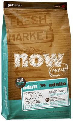 Сухой корм для собак Now Fresh Adult для крупных пород беззерновой с индейкой уткой и овощами 11.35кг