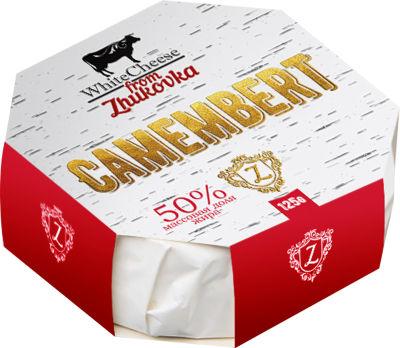 Сыр White Cheese from Zhukovka Камамбер с белой плесенью 50% 125г
