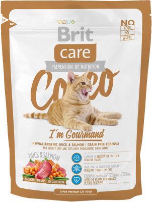 Сухой корм для кошек Brit care для гурманов с уткой и лососем 400г