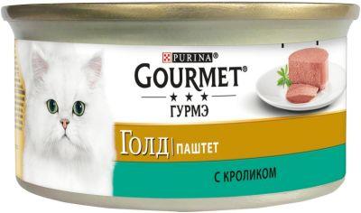 Корм для кошек Gourmet Gold Паштет с кроликом 85г