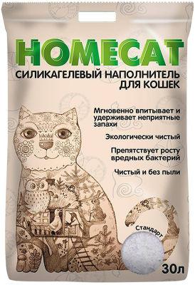 Наполнитель для кошачьего туалета Homecat Без запаха 30.0л