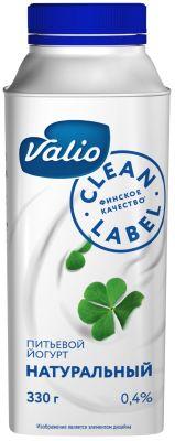 Йогурт питьевой Valio Натуральный 0.4% 330г