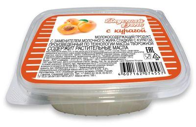 Продукт молокосодержащий Вкусный День Сладкий с курагой 180г